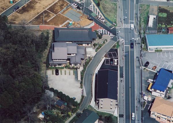 空から見た浄願寺